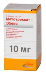Метотрексат-Эбеве, р-р д/ин. 10 мг/мл 1.5 мл №1 шприц